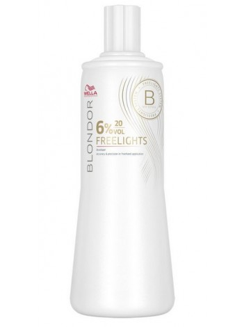 Wella Freelights Окислитель 6% Blondor Freelights 1000мл 81472359 в магазине BEAUTY-BAZAR.RU